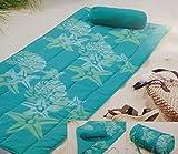 HSN  Strandmatte Strand Decke mit Kissen Sommer Wendematte Beach 80 x 180 türkis *PLT5  (türkis)