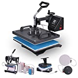 Lartuer Transferpresse Tassenpresse Textilpresse T Shirtpresse Heat Press Machine 8 in 1...