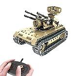 Modbrix Bausteine 2,4 Ghz RC Panzer Flakpanzer Ferngesteuert, Konstruktionsspielzeug mit 457...