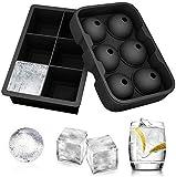 Ecoki Jumbo Eiswürfelformen, Silikon XXL Eiswürfelform, Silikon Eiskugelform - Ohne BPA, Big Size...