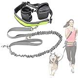 Cadrim Hunde Joggingleine mit verstellbarem Hüftgurt,elastische Bungee Leine zum handfreien...