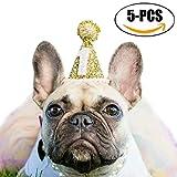 Hundehut, Legendog 5 Stücke Hund Headwear Hut Niedlichen Glänzenden Hund Geburtstag Hut Party Hute...
