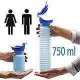 Lunata (Upgrade 2019) 750ml Universal Mini Urinal für Mann, Frau & Kind, Mobiltoilette, Personal...