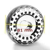 JZK® Universal Siebkörbchen/ Siebkorb/ Universalsieb/ Ablaufsieb/ Ersatzteil mit Durchmesser 65mm...