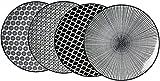 Ritzenhoff & Breker Speiseteller-Set Takeo, 4-teilig, 26,5 cm Durchmesser, Porzellangeschirr,...