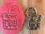 Kekstempel/ Ausstechform Peanuts Figur Logos aus biolog. PLA ca.8cm (Charlie Brown mit snoopy)