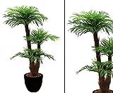 Areca Palme, Kunstpalme mit Baststamm, mit Zementtopf, Höhe ca. 120cm - künstliche Palme...