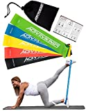 Fitnessbänder Set 5-Stärken by ActiveVikings - Ideal für Muskelaufbau Physiotherapie Pilates Yoga...