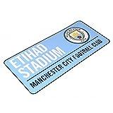 Manchester City FC Metallschild mit offiziellem Clubwappen und Stadionadresse (Einheitsgröße)...