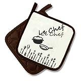 Originelle Serie ' Le Chef ' Farbe : Braun / Creme - wunderschönes Küchen- Motiv - zur Auswahl :...