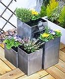 Bepflanzbarer Kaskadenbrunnen 'Daintree' Zimmerbrunnen - Silber