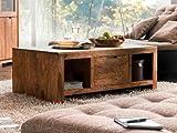 WHITNEY Mountain Couchtisch Wohnzimmertisch Tisch Massivholztisch Holztisch Sofatisch Beistelltisch...