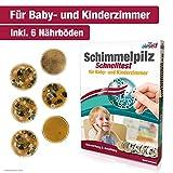 Schimmeltest für Baby- und Kinderzimmer – Schimmel Test zur Bestimmung der Schimmelpilzbelastung...