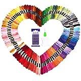 Stickgarn Embroidery Floss multifarben weicher Baumwolle perfekt für Friendship Bracelets...
