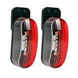 Umrissleuchte LED 12v Begrenzungsleuchte 2er Set rot/weiß 98x42x38 mm, 12/24 Volt, 2 Watt, 6 LED...