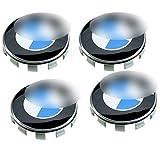 4x BMW-Staubdeckel für Radkappen, 68mm, mit Logo in Blau-Weiß, für Serien 1 3 4 5 6 7 8 X1 X3...