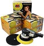 AllorA Exzenter Exzenterschleifer 150mm 5mm Hub + 500 AllorA Schleifscheiben 15-Loch verschiedene...