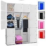 Kesser DIY Kleiderschrank Schrank Steckregal  Schuhschrank  Regalsystem  Garderobe   Belastbar  ...