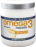 Omega 3 Fischöl-Kapseln 1000mg - DER VERGLEICHSSIEGER 2017* - 400 Stück Hochdosiert - Mit 180mg...