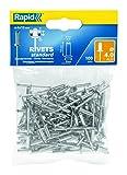 Rapid Blindniete Standard Aluminium, 100 Stück, 4 x 12 mm, 5000379