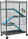 Zolux Käfig für Chinchillas/Frettchen, Blau, 72°x°43°x°107°cm