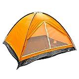 Milestone Camping Kuppelzelt für vier Personen - Orange