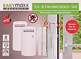 easymaxx 02481 Security Alarmanlage für Türen und Fenster Magnetsensor-Technik, 110db, kein Bohren...