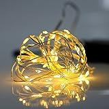 Gresonic 30er LED Micro Lichterkette Draht mit Timer Mini Leuchte Batteriebetrieben Deko für Garten...