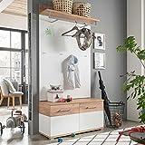 lifestyle4living Garderoben-Set, Garderobe, Flurgarderobe, Diele, Schuhschrank, Garderobenschrank,...