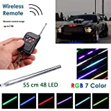 WIVION Auto Strobe-Beleuchtungsstreifen-Kit, Knight Night Rider Light Bar 7 Farbe 147 Modi 48...