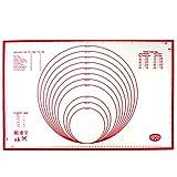 Dr. Oetker Backmatte Silikon, Backunterlage, multifunktionale Back-/Ausrollmatte,...