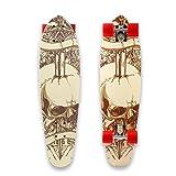 WeSkate Mini Cruiser Board 71cm Retro Komplettboard Vintage Skateboard mit Holz Deck aus 9-lagigem...