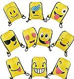 Mitgebsel Kindergeburtstag Emoji Partyzubehör Turnbeutel 10 Stück Geschenktüte Für Jungen...