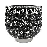 Vancasso Haruka 4-teilig Müslischalen aus Porzellan, Schalen Set, 15,2 cm Durchmesser für Obst,...