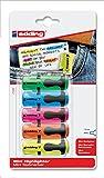 edding 7 Mini Highlighter - sortiert - 5er Blisterkarte - Mini-Textmarker in 5 brillanten...