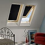 KINLO 38 x 75cm Sonnenschutz Dachfensterrollo Beschichtung für Velux Dachfenster UV Schutz Thermo...