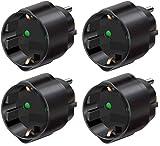 Brennenstuhl Reisestecker/adapter (4 Stück, Schutzkontakt für USA, Mexiko, Kanada, Dominikanische...