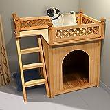 Hundehütte Hundehaus Katzenhaus Hundehöhle Tierhaus Hund Holz Box Garten Sonnenterasse