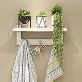 Wandregal hängend Kleiderbügelhülle Haubenhaken Türspeicher Wandspeicher Turm weiß ( Farbe :...