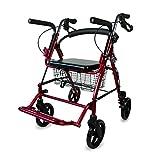 Mobiclinic Rollator für Senioren und Rollstuhl | 2in 1| in Bremse Bremshebel,...