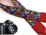 intepro Schmetterling. Kameragurt rot DSLR/SLR Kamera Gurt. Farbenfrohe Schmetterlinge Kamera....