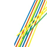 100 Trinkhalme, Maxi, Ballerman-Trinkhalm, Sangria-Trinkhalm, Ø 6,5 mm, 75 cm, farbig sortiert,...