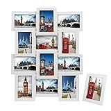 SONGMICS Bilderrahmen Collage für 12 Fotos je 10 x 15 cm (4 x 6) + 1x Einzelfotorahmen,13er...
