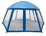 Steinbach Pooldach für Auftsellpools, Blau, 500 x 433 x 250 cm