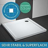 Duschwanne AQUABAD® Comfort Villa Flat 90x90cm Superflach Quadrat