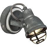 Vintage LED Wandspot, im Industrial Used-Look, 1x 4W GU10 LED inkl., 350 Lumen, 3000K warmweiß,...