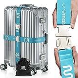 OneMate  Koffergurt-Set mit Metallschnalle (für 2 Koffer) – Unfassbar robuster Gepäckgurt für...