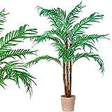 Maxstore PLANTASIA Kokos-Palme, Echtholzstamm, Kunstbaum, Kunstpflanze, Kunstpalme - 160 cm,...