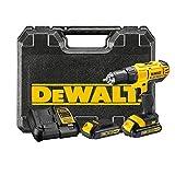 DeWalt XR Akku-Bohrschrauber (Akkubohrer mit zwei-Gang-Vollmetallgetriebe und LED-Arbeitslicht,...