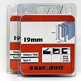 Black & Decker Typ 3Heftklammern 19mm B & D dn428BD428sr109e (2Packungen)